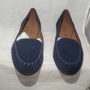 Aerosoles women's dark Blue suede slip-on shoes
